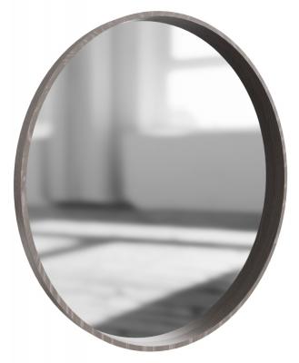 Laguna Grey Oak Round Wall Mirror