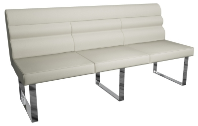 Laguna Taupe 180cm Dining Bench with Back