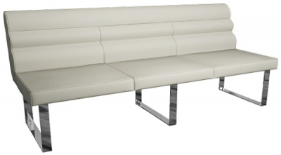Laguna Taupe 220cm Dining Bench with Back
