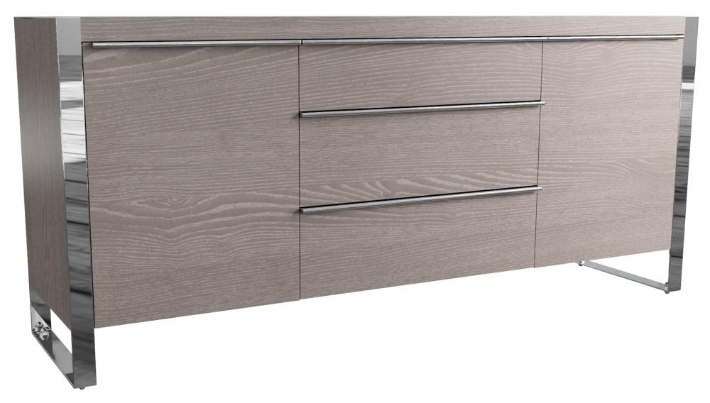 Laguna Grey Oak 2 Door 3 Drawer Sideboard