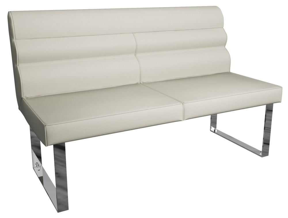 Laguna Taupe 140cm Dining Bench with Back