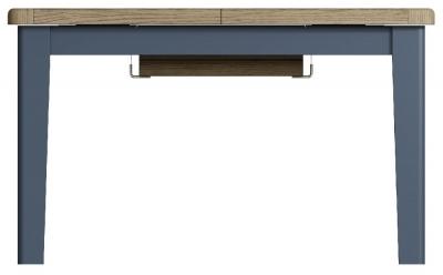Ringwood Blue Painted 130cm-180cm Extending Dining Table - Oak Top