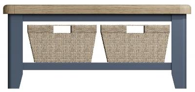 Ringwood Blue Painted Coffee Table - Oak Top