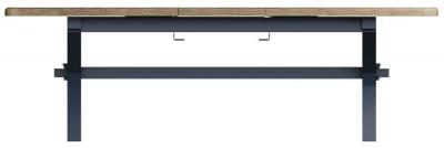 Ringwood Blue Painted Cross Leg 200cm-250cm Extending Dining Table - Oak Top