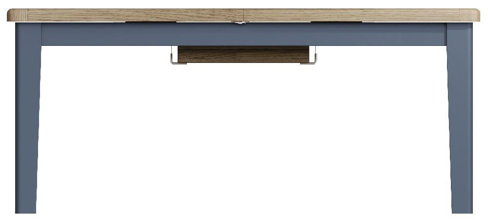 Ringwood Blue Painted 180cm-230cm Extending Dining Table - Oak Top