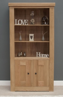 Bordi Oak 2 Door Bookcase
