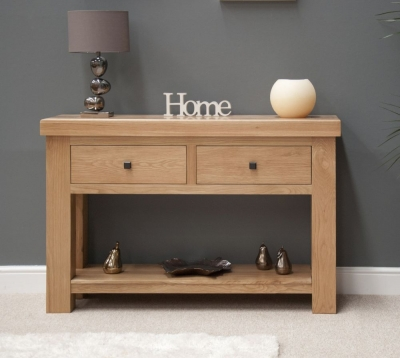 Bordi Oak Console Table