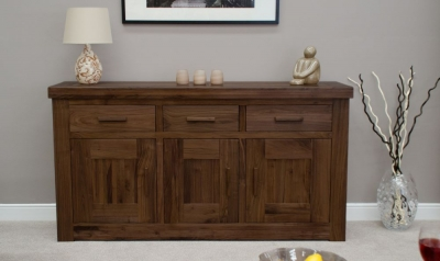 Fudge Solid Walnut 3 Door Sideboard
