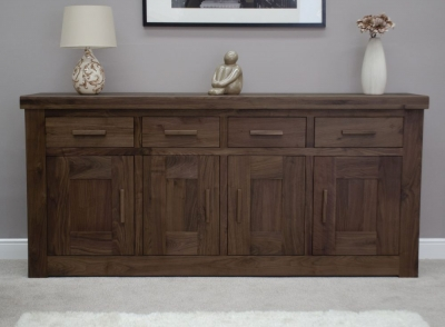 Fudge Solid Walnut 4 Door Sideboard