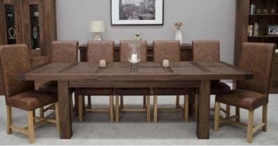 Fudge Solid Walnut Extending Dining Table