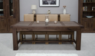 Fudge Solid Walnut Grand Extending Dining Set with 4 Louisa Tan Chairs