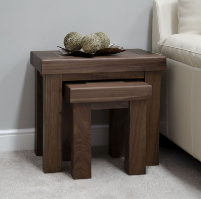 Fudge Solid Walnut Nest of Tables