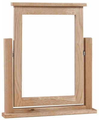 Modern Oak Dressing Mirror