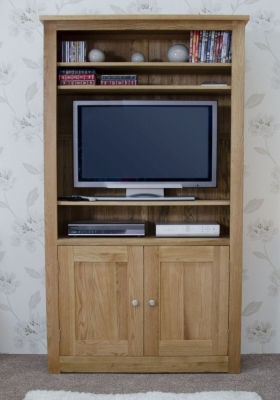 Torrent Oak 2 Door Bookcase