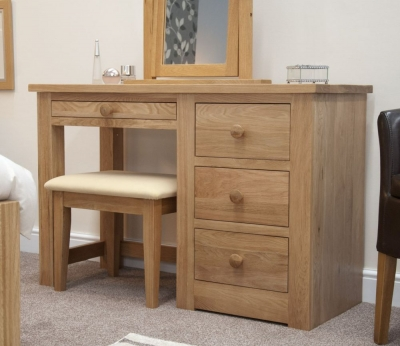 Torrent Oak Dressing Table and Stool
