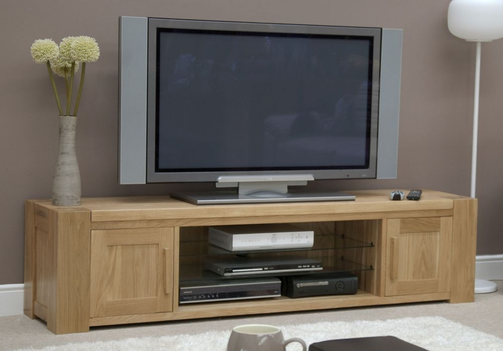 Trench Oak Large Plasma TV Unit