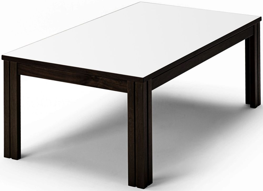 Skovby SM221 White High Pressure Laminate with Black Wenge Lacquered Coffee Table