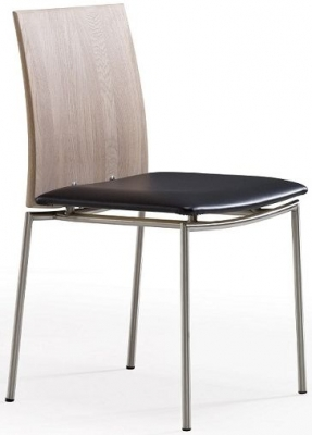 Skovby SM98 Solid Oak Wooden Back Dining Chair