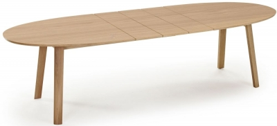 Skovby SM20 Ellipse 6 to 12 Seater Extending Dining Table