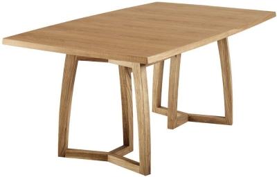 Skovby SM22 Trestle 6 to 10 Seater Oak Veneer Lacquered Extending Dining Table
