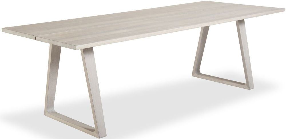 Skovby SM106 Solid Oak White Oil-Finish Plank Dining Table - 8 to 14 Seater