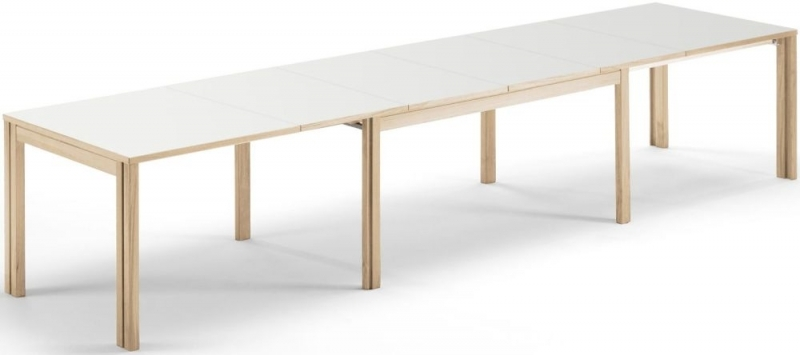 Skovby SM23 Dining Table - White Laminate Top - 6 to 14 Seater