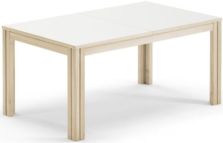 Buy skovby sm23 dining table white laminate top 6 to for 14 seater dining table