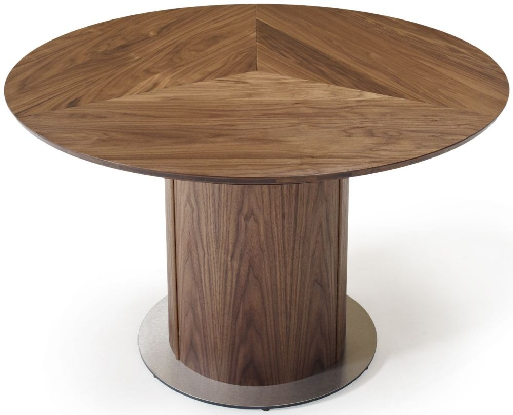 Skovby SM32 Solid Wood Round Dining Table with Steel Base Plate - 6 to 9 Seater