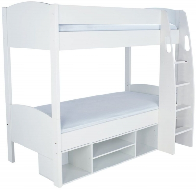 Stompa Detachable White Round Storage Bunk Bed without Door