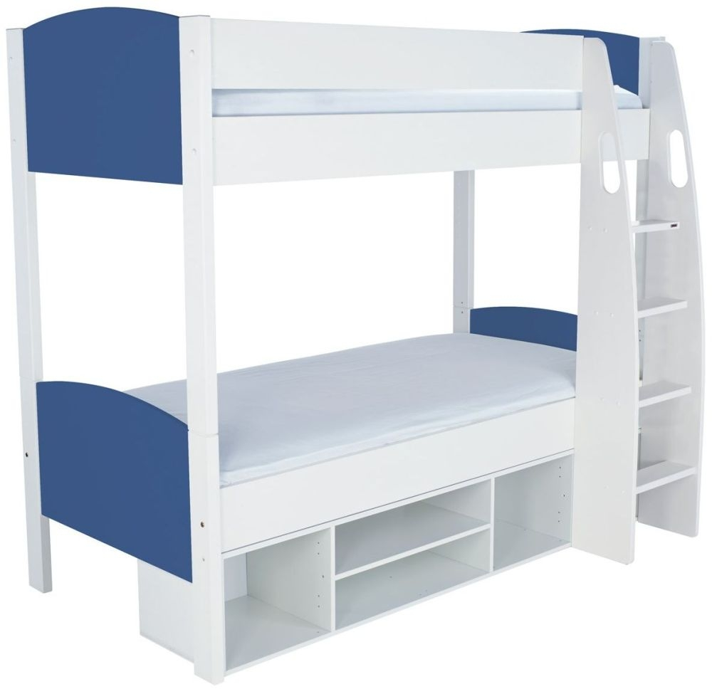 Stompa Detachable Blue Round Storage Bunk Bed without Door