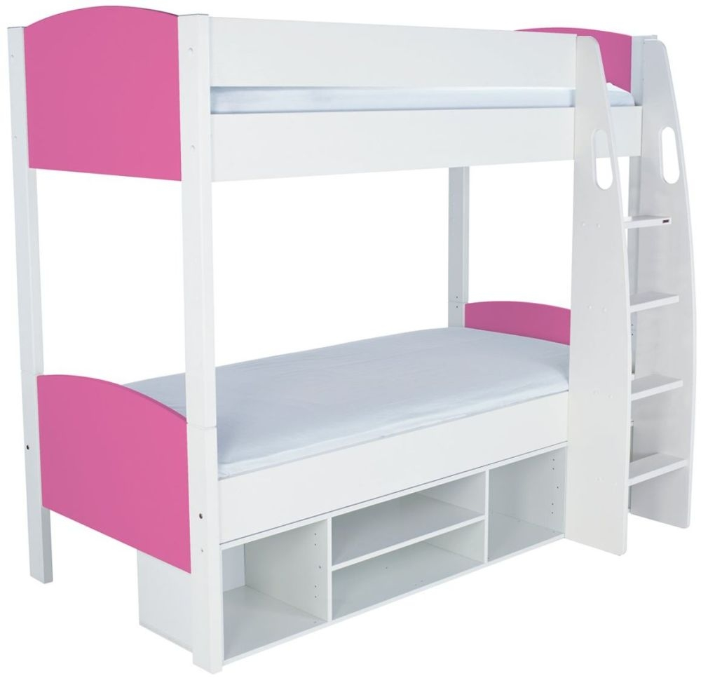 Stompa Detachable Storage Pink Round Bunk Bed without Doors