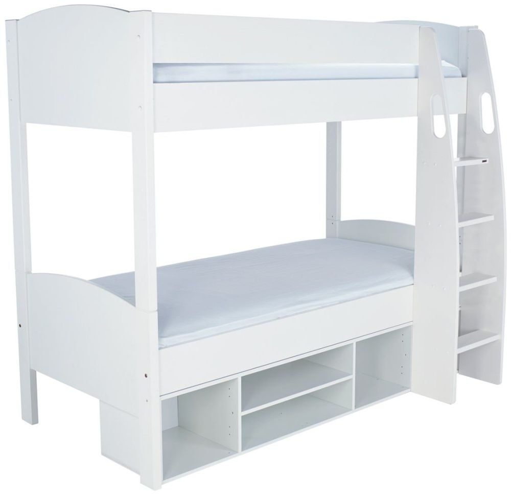 Stompa Detachable Storage White Round Bunk Bed without Doors