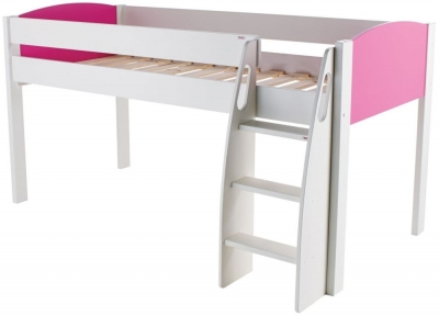 Stompa Pink Mid Sleeper Bed