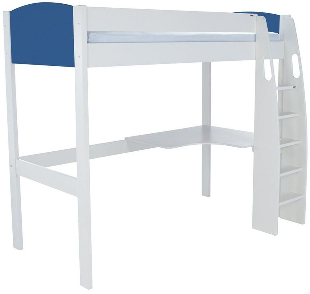 Stompa Blue High Sleeper with Desk