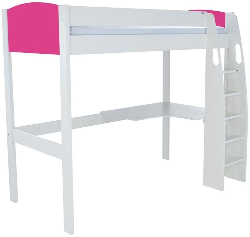 Stompa Pink High Sleeper with Desk