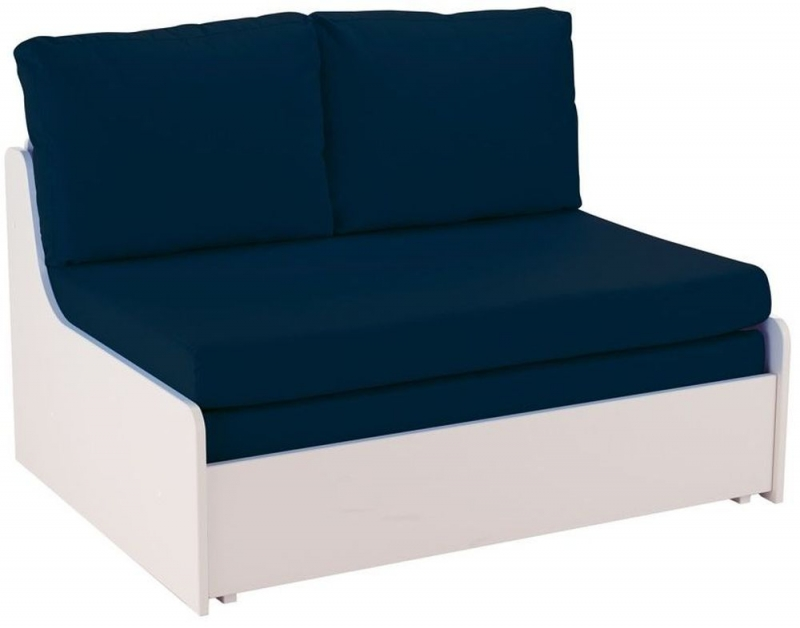 Outstanding Stompa Blue Double Sofa Bed Theyellowbook Wood Chair Design Ideas Theyellowbookinfo