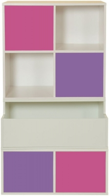 Stompa Storage Bundle D2 with 2 Pink and 2 Purple Small Doors