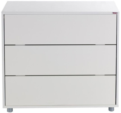 Stompa White 3 Drawer Chest