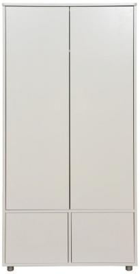 Stompa White Tall Wardrobe with Doors