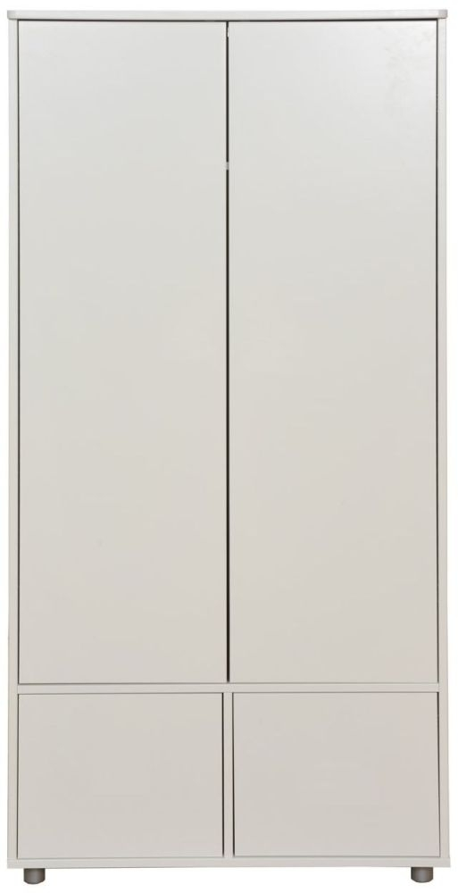 Stompa White Tall Wardrobe with White Doors