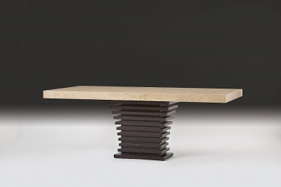Stone International Ark Dining Table - Marble and Wenge Wood