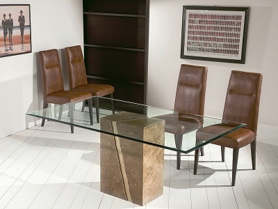 Stone International Artistica Dining Table - Marble and Glass