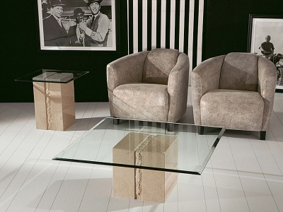 Stone International Artistica Occasional Tables - Marble and Glass