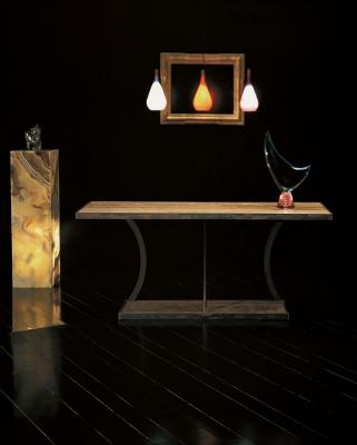 Stone International Aurora Rusty Iron Marble Console Table