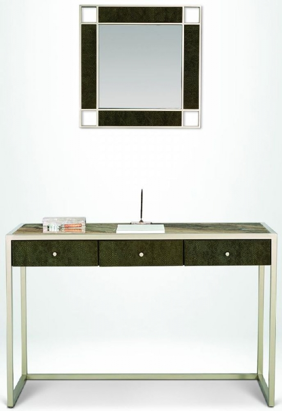 Stone International Billy Marble Dressing Table with Metal Base