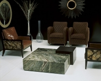 Stone International Box Wenge Wood and Marble Coffee Table