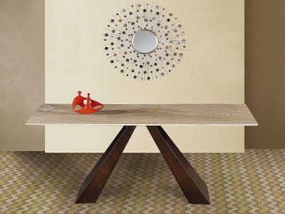 Stone International Butterfly Occasional Table - Marble and Wenge Wood