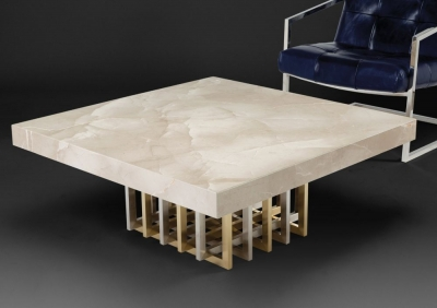 Stone International Cage Coffee Table - Marble and Metal