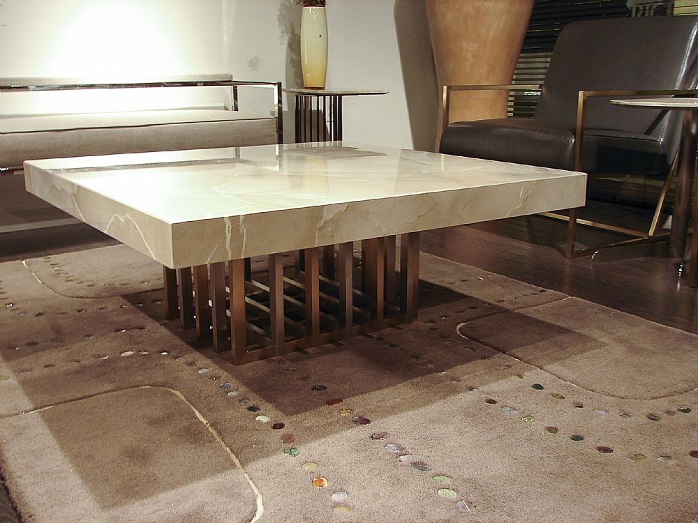 Stone International Cage Marble Coffee Table