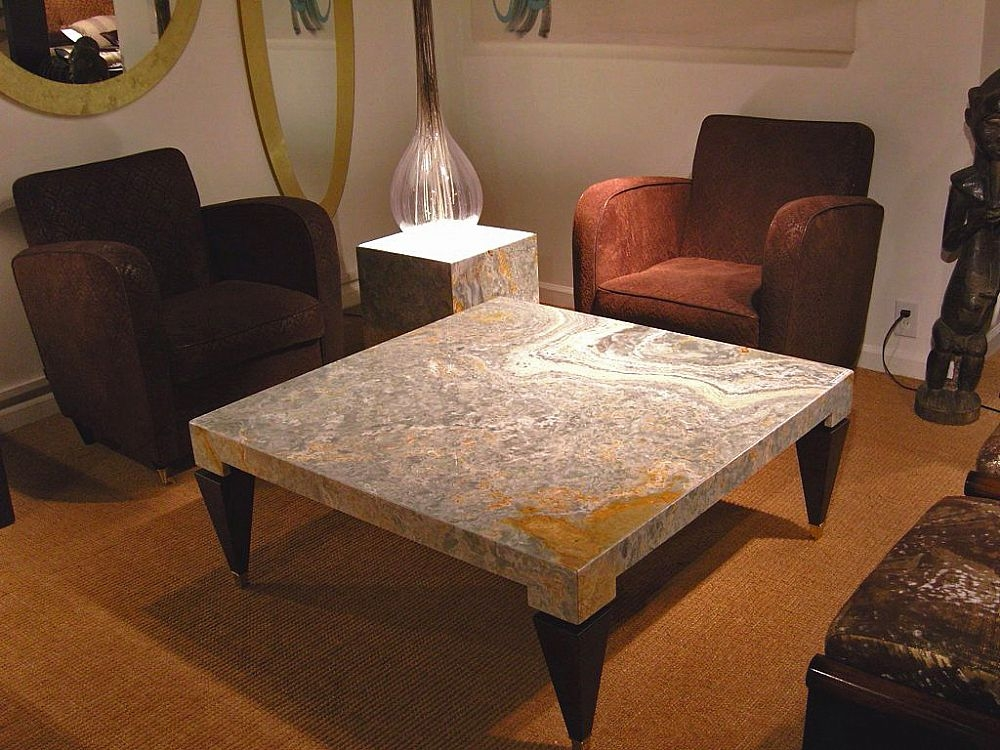 Stone International Chicago Marble Occasional Table